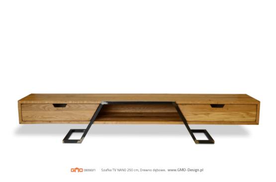 Piękna szafka rtv, komoda bo pokoju wykonana z litego drewna. Piękna stalowa rama. Możemy wykonać ten mebel ze starego drewna.