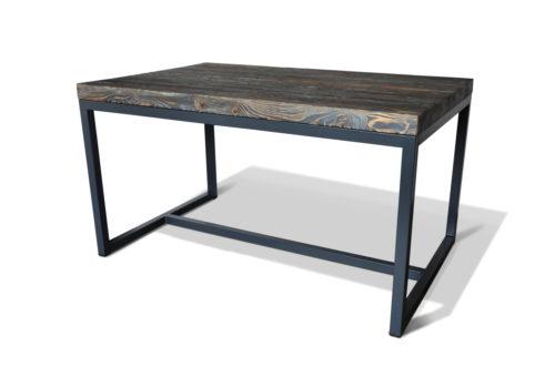 Stół w stylu skandynawskim. Minimalistyczny w kolorze grafitowym z litego drewna.